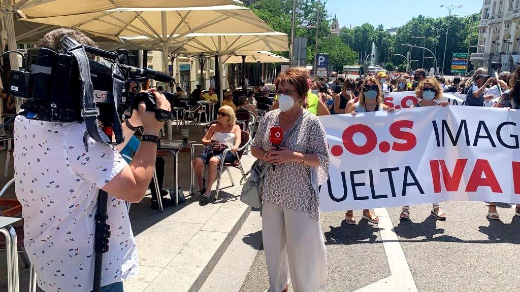 Telemadrid manifestación nacional Bajada del IVA